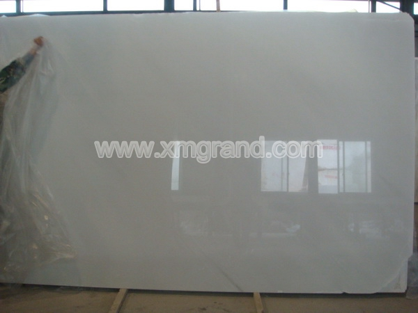 Pure White Marble Slab- (5)