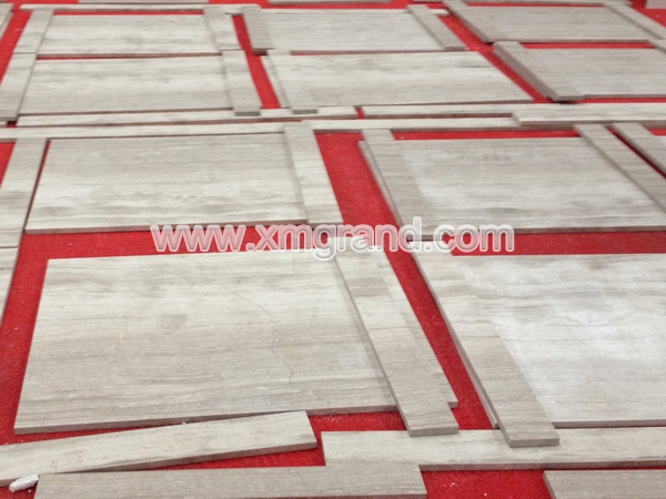 White Wood Marble Walls