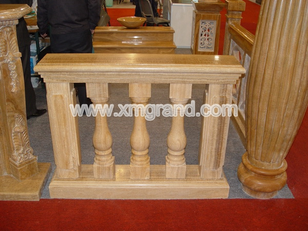 Yellow Wood Marble Handrails