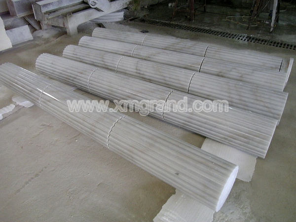 White Marble Block Column (1)