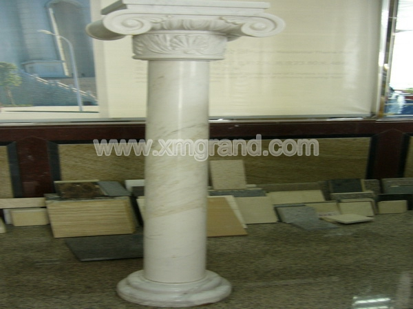 White Marble Block Column (2)